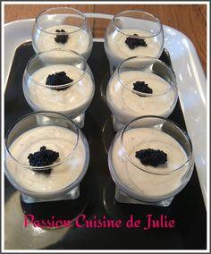 verrines de mousse d'asperges Julie, Entrees, Panna Cotta, Pudding, Passion, Cooking, Desserts, Food, Camilla