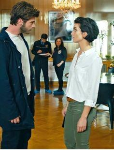 Kivanc Tatlitug and Tuba Buyukustun in the Turkish TV series Cesur ve Guzel, 2016-2017. // Maro and Grace