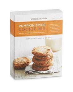Williams-Sonoma Pumpkin Spice Cookie Mix #williamssonoma