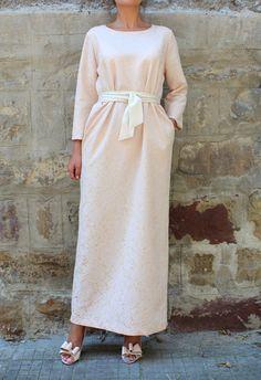 Lace dress Elegant dress Long dress Column by cherryblossomsdress