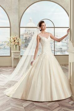 Colet Nicole Spose coab17212 - Koonings Bruid & Bruidegom, Collectie 2017 #modern #hartvorm #kant #zijde #koonings