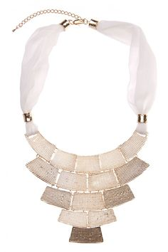 Bars Graduated Drop Necklace in WHITE #6275 - colette by colette hayman