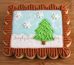 Simply Sweets by Honeybee: Inspiration Challenge: December {Winter Wonderland} Fancy Cookies, Cute Cookies, Royal Icing Cookies, Cupcake Cookies, Cupcakes, Thanksgiving Greetings, Thanksgiving Traditions, Christmas Tree Cookies, Christmas Tree Decorations