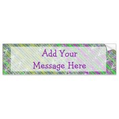Personalized Bumpersticker Colorful zigzag pattern #zazzle #gifts #personalize