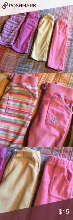 Girls 4pc pant bundle Girls 4pc pant bundle, all 18mo except lime green 18-24mo. Bottoms