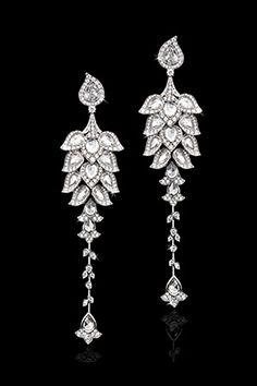 Diamond 'Phoenix' earrings  by David Morris