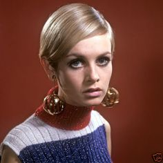 Twiggy, 1967 British model...I did my makeup just like her and wore my hair just like her...I couldn't find those earrings though.