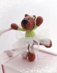 Gehäkelter Teddy / Ballerina / Crochet Bear / Teddy