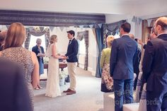 Wedding vows photograph at Balmer Lawn Hotel Wedding ceremony. Photography by one thousand words wedding photographers