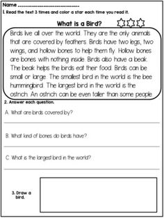 1st-2nd Grade Reading Comprehension Passages and Questions by Dana's Wonderland First Grade Reading Comprehension, Reading Fluency, Reading Passages, Kindergarten Reading, Guided Reading Levels, Common Core Reading, What Is A Tornado, Character Education Lessons, Academic Vocabulary