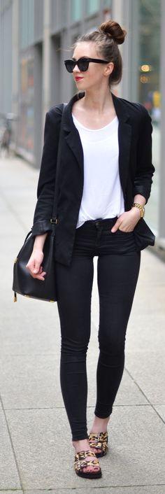 Leopard Sandals Outfit Idea by Vogue Haus