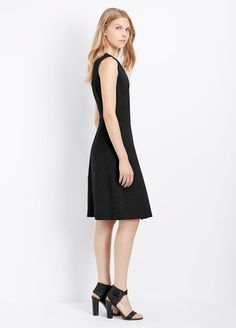 Ponte Fitted Sleeveless Dress | Vince