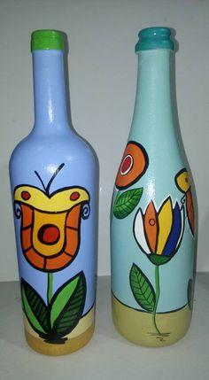 artesã empreendedora de sucesso faz artesanato com material reciclado Glass Bottle Crafts, Bottle Art, Glass Bottles, Art Projects, Projects To Try, Painted Wine Bottles, Bottle Painting, Decoupage, Diy Crafts
