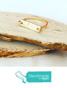 Artisian Gold Hammered Bar Ring https://www.amazon.com/dp/B01MSV54RB/ref=hnd_sw_r_pi_dp_DGZqybRYPQ797 #handmadeatamazon