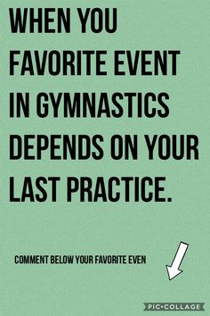 Mine is for sure vault! Gymnastics Quotes, Gymnastics Pictures, All About Gymnastics, Athlete Quotes, Girls Denim Shorts, Floor, Athletic, Life, Pavement