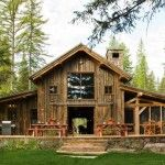 Rustic, timberframe, and a screened porch...I'll take it.