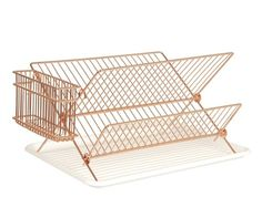 Dish rack copper plated by Present Time