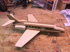 Handmade Wooden Toy Air Plane - Lear Jet  #odinstoyfactoy  #handmade #handcrafted #woodentoys #airplane #toy