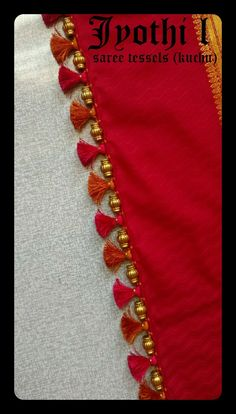 Saree Kuchu New Designs, Saree Tassels Designs, Silk Saree Blouse Designs, Saree Blouse Patterns, Designer Blouse Patterns, Embroidery Neck Designs, Saree Dress, Crochet Designs, Sarees