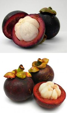 Called 'mangkut', these are the 'queen of Thai fruits' with their elegant, segmented white–flesh inside a thick large purple peel.