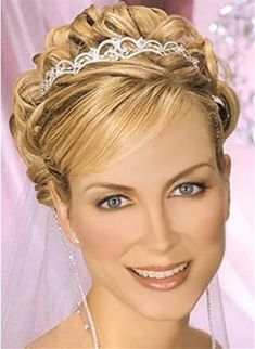 hairstyles for the bride with long hair wearing tiara | ... wedding hair style2 Wedding Hairstyles for Short Hair Hairstyle Blog