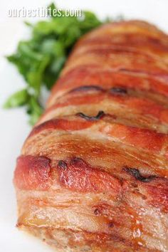 glazed bacon-wrapped meat loaf from America's Test Kitchen recipe. This is the best meatloaf!