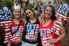 These namecards are PERFECT for a red, white and blue themed Bid Day.