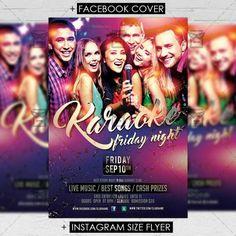 Club A5 Flyer Template - Karaoke Friday Night