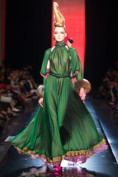 Gaultier. This dress a piece of artwork in motion.