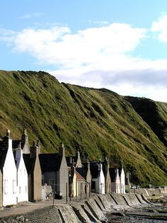 Crovie, Scotland. I want to go see and walk down the street and see the ocean too