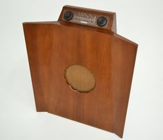 "1949 Murphy radio Model A 146 C, highlighted with the Murphy ""Baffle"" console cabinet system"