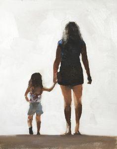 Anya és lánya Art Nyomtatás által JamesCoatesFineArt on Etsy