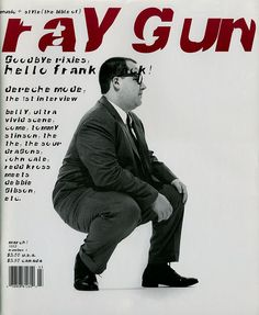 "cMag526 - Ray Gun Magazine cover ""Frank Black"" by David Carson / Issue 4 / March 1993"