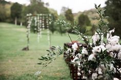 A little something soft for your ceremony! This boho cotton decor is a show stopper! #cedarwoodweddings 25 Stunning Ceremony Altars by Cedarwood Weddings | Cedarwood Weddings