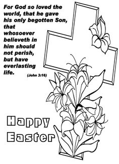 he is risen coloring pages for kids | jesus resurrection he s alive tomb jesus is risen with cross and bunny ...