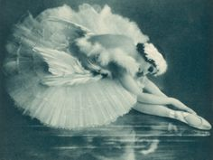 Anna Pavlova's dying swan..No one ever danced it more beautifully...