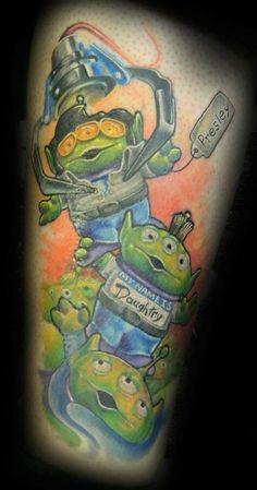 Rock n roll toy story tattoo