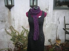 Scarf handmade in hand dyed superwash wool by SussesSpindehjrne, $75.00