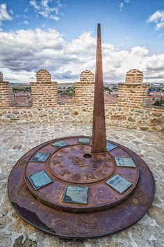 Check out Sun dial at The Walls of Avila by Architect´s eye on Creative Market #sundial #photography #unesco