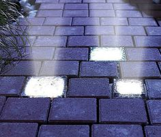 Solar Powered Light-Up Bricks Boden, Lawn And Garden, Garden Paths, Home And Garden, Solar Driveway Lights, Driveway Lighting, Path Lights, Pathway Lighting, Solar Powered Lights
