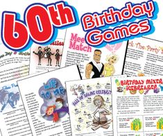 Everyone Will Have Fun Playing These 60th Birthday Printable Party Games