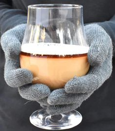 hot white russian cocktail close in hands