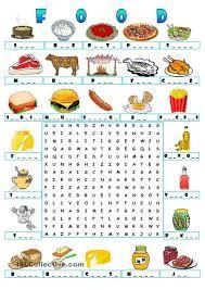 Resultado de imagen para my favorite food puzzle