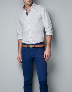 FIL COUPE SHIRT - Shirts - Man - ZARA