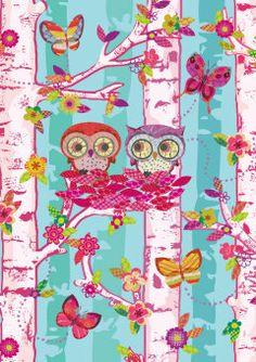 Roger la Borde | Elegant Owls Greeting Card