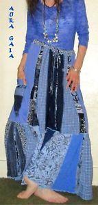 AuraGaia Galena~ Skorts Skirt Pants Poorgirl Uber Wide Leg Upcycled XS-3X Plus