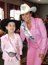 Tough Enough to Wear Pink Four States Rodeo Queen Tacey Raye Raulerson (left) with her idol, 2008 Miss Rodeo Texas Teen Lauren Graham.