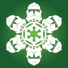 Hópelyhek másképp Star Wars fanatikusoknak :) (rengeteg van ezen az oldalon) / Clone Trooper 2 - Star Wars Snowflake