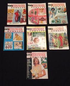 Lot 7 Vintage Back Issues McCall's Needlework & Crafts Magazine 1969-1973 Sewing #McCalls  #vintagesewing #vintagecrafts #knitting #handmadenostalgia