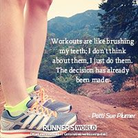 Running - part of a normal daily routine.